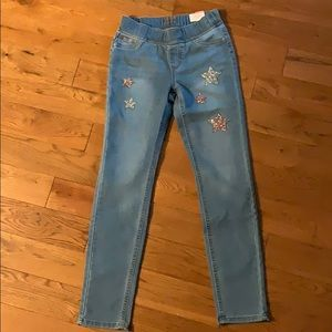 Justice jeans jeggings size 12 slim NEW